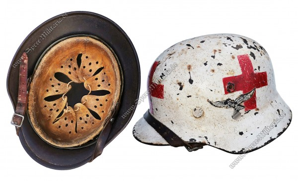 "Luftwaffe Red Cross/Medic Steel Helmet M40 ""SE66"""