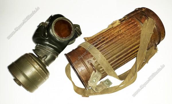 W-XX Gasmaskenbüchse(Normandie/Tarn) +Maske