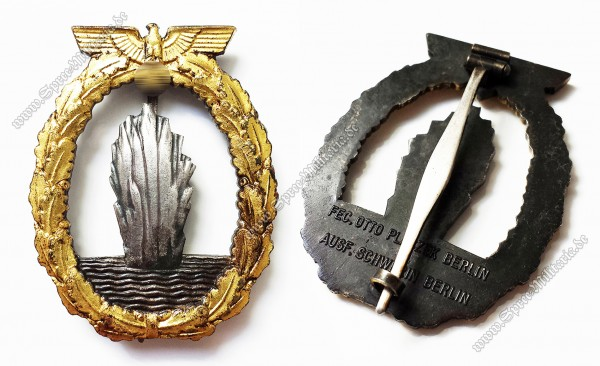 Kriegsmarine Mines Sweeper War Badge[Schwerin/Berlin]