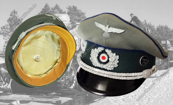 Wehrmacht Schirmmütze Sanitätsoffizier Panzer-Division Windhund