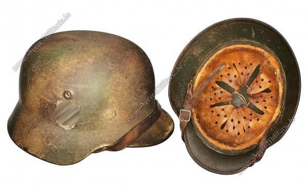 W-SS Normandy/Camouflage Steel Helmet M40