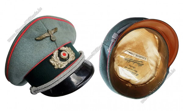 Wehrmacht Visor Cap for Panzer Officers