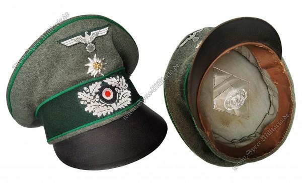 Wehrmacht Schirmmütze/Knautschmütze Gebirgsjäger Offizier