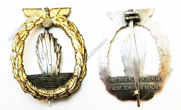 Kriegsmarine Mines Sweeper War Badge[Schwerin/Berlin]