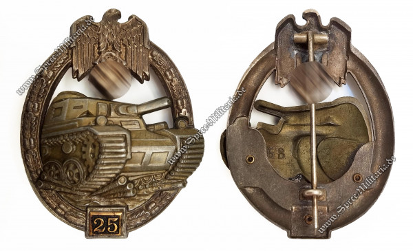 "Bronce Panzer Assault Badge ""25""[Gustav Brehmer]"