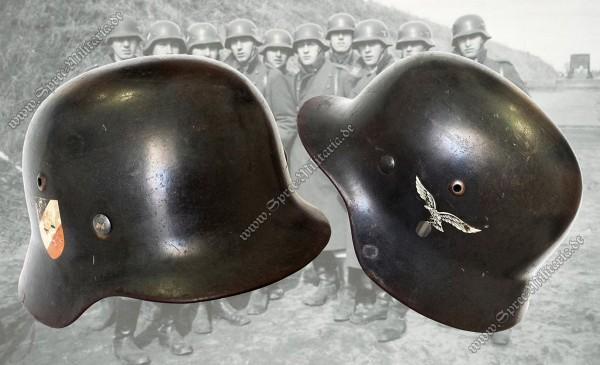 """Luftwaffe Doppelabzeichen Stahlhelm M35 """"ET68"""""""