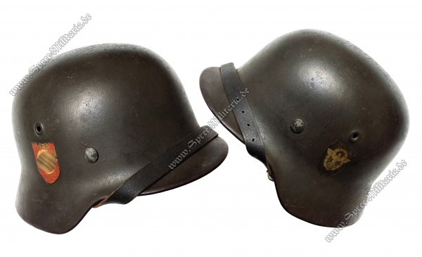 """XX/Polizei Doppelabzeichen Stahlhelm M40 """"ET66"""""""