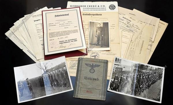 """Personal/Dokumenten Nachlass Freiwilliger in der SS-Standarte """"Germania"""""""