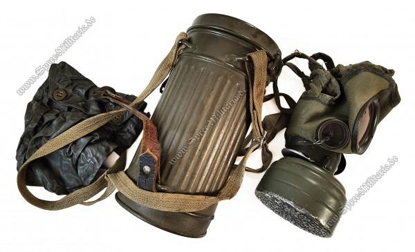 Wehrmacht/W-SS Mikrofon Gasmaske M38 für Funker