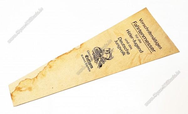 Hitlerjugend/Deutsches Jungvolk Fahrtenmesser Herstellertüte[Eickhorn/Solingen]