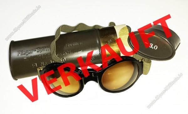 """Luftwaffe Flieger-Splitterschutzbrille mit Ultrasin-Glaesern """"D"""""""