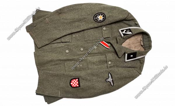 "W-SS Uniform/Feldbluse M42 Gebirgsjäger ""Handschar/Kroatische Nr.1"" Freiwilliger"