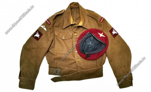 """England WWII Battledress M40 Feldbluse/Barett Airborne """"Pegasus"""""""""""