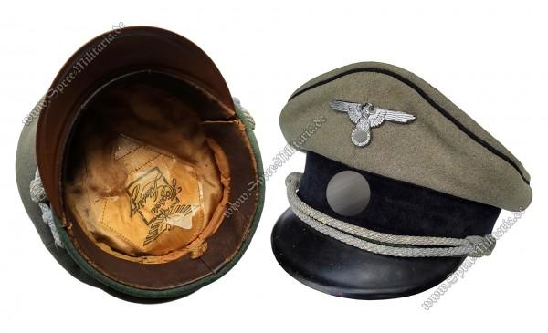 W-SS Schirmmütze für Pionier Offiziere