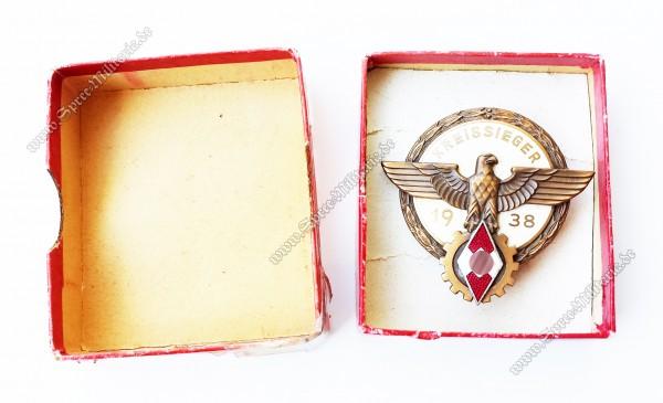 Kreissieger(1938) Abzeichen in Verleihungsschachtel