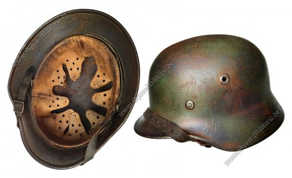 Luftwaffe Field-Division Normandy/Camouflage Steel Helmet M40