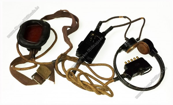 Wehrmacht/W-SS Stug Commander Throat Microphone/Headset