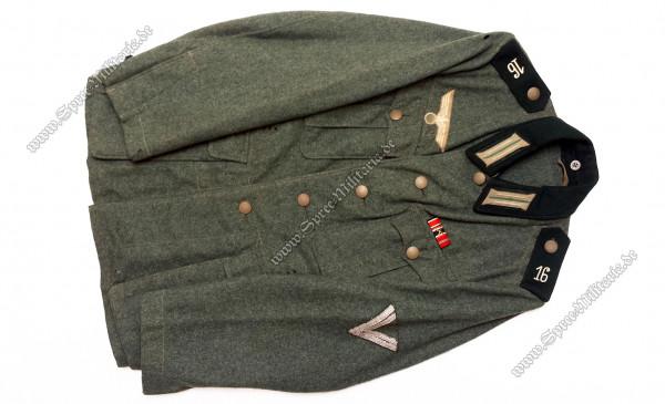 Wehrmacht Uniform/Feldbluse M36 Jäger-Regiment(16) Obergefreiter