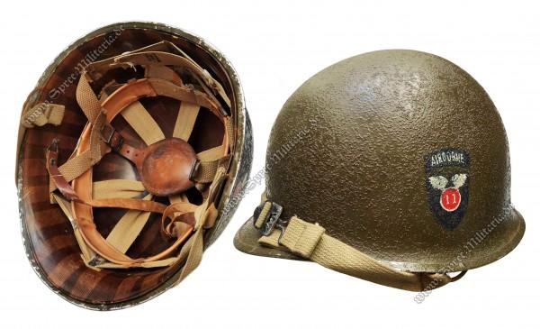 "U.S. WWII Paratrooper Steel Helmet M1 ""11th Airborne Division"""
