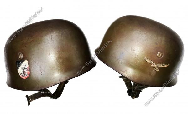 """Luftwaffe Doppelabzeichen Stahlhelm M38 für Fallschirmjäger """"ET68"""""""