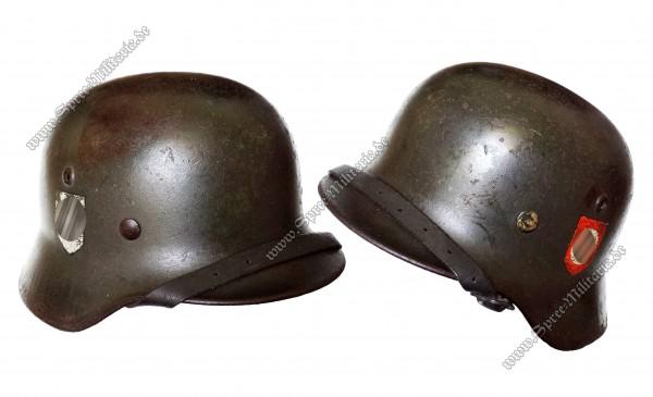 """W-SS Doppelabzeichen Stahlhelm M35 """"SE66"""""""