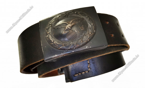 Luftwaffe/LW Field Buckle EM/NCO +Leather Belt