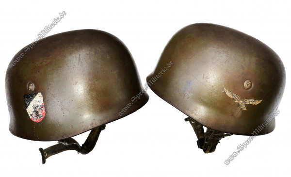 Luftwaffe Double Decal Paratrooper Steel Helmet M38