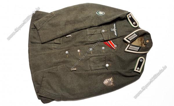 Wehrmacht Uniform/Feldbluse M40 Gebirgsjäger Feldwebel