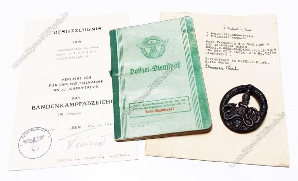 Bandenkampfabzeichen Bronze Nachlass[Juncker/Typ2]
