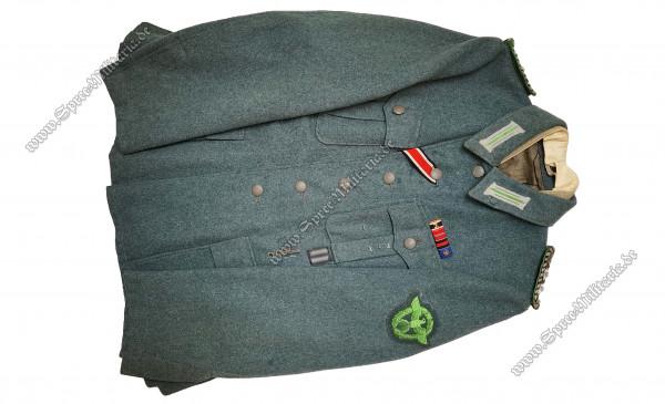 3.Reich Schutzpolizei Uniform/Feldbluse M42 für SS-Mitglieder
