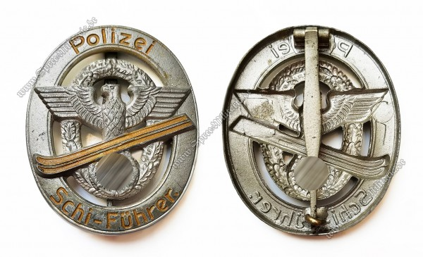 """III.Reich Zivil Award Police Badge """"Polizei Schi-Führer"""""""