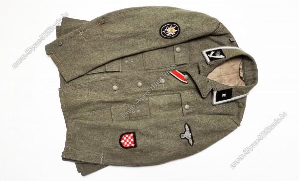 W-SS Feldbluse M42 Gebirgsjäger/Kroatische Nr.1 Unterscharführer