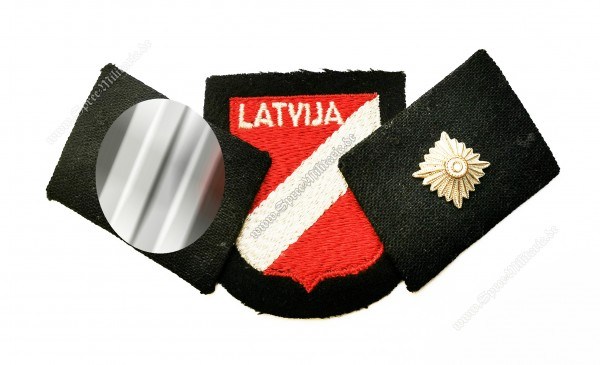 "W-SS Insignia Set Volunteer ""Latvian Legion"" NCO"