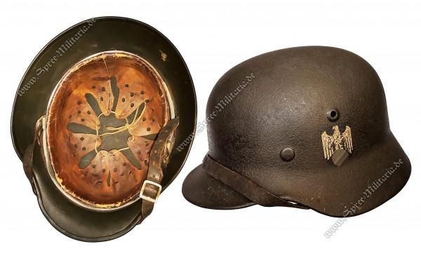 """Wehrmacht Ardennen/Schiefertarn Stahlhelm M40 """"hkp64"""""""