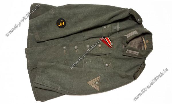 Wehrmacht Uniform/Feldbluse M42 Pionier/Feuerwerker Stabsgefreiter