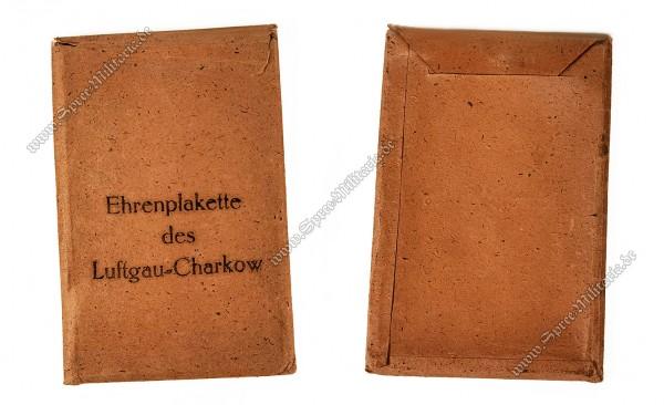 Luftwaffe Non-wearable Honour Plaque Luftgau Charkow