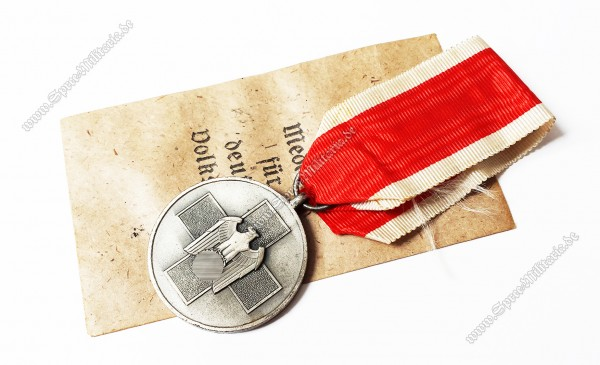 German Social Welfare Medal on Ribbon[A.Fries/Berlin 36]