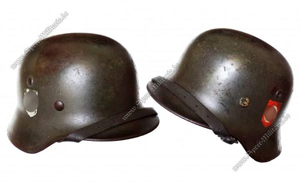 W-SS Doppelabzeichen Stahlhelm M35