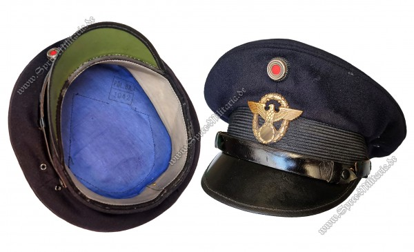 III.Reich Water Protection Police EM/NCO Visor Cap