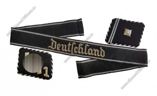 """SS-VT Effektensatz Kragenspiegel & Ärmelband SS-Regiment 1 """"Deutschland"""""""