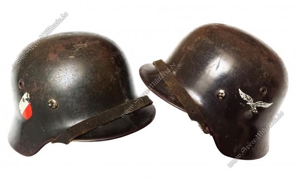 """Luftwaffe Doppelabzeichen Stahlhelm M35 """"SE64"""""""