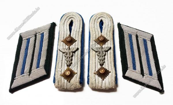 Wehrmacht Schulterklappen/Kragenspiegel Hauptmann Sanitäter