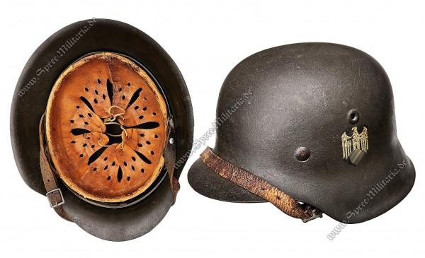 """Wehrmacht Ardennen/Schiefertarn Stahlhelm M42 """"ET64"""""""