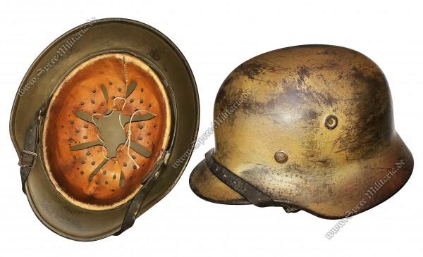 """Wehrmacht Normandie/Tarn Stahlhelm M40 """"Q64"""""""