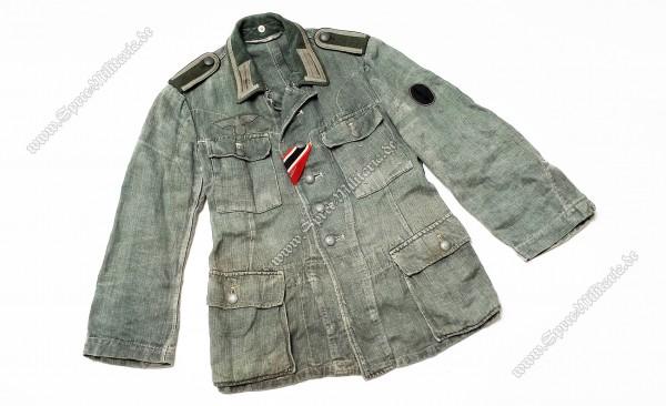 Wehrmacht Uniform/Sommerfeldbluse M42 Pionierfunker Unteroffizier