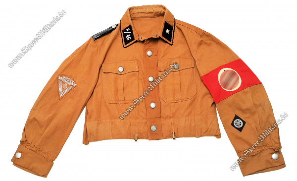NSKK Uniform/Diensthemd Standarte II/46 Scharführer